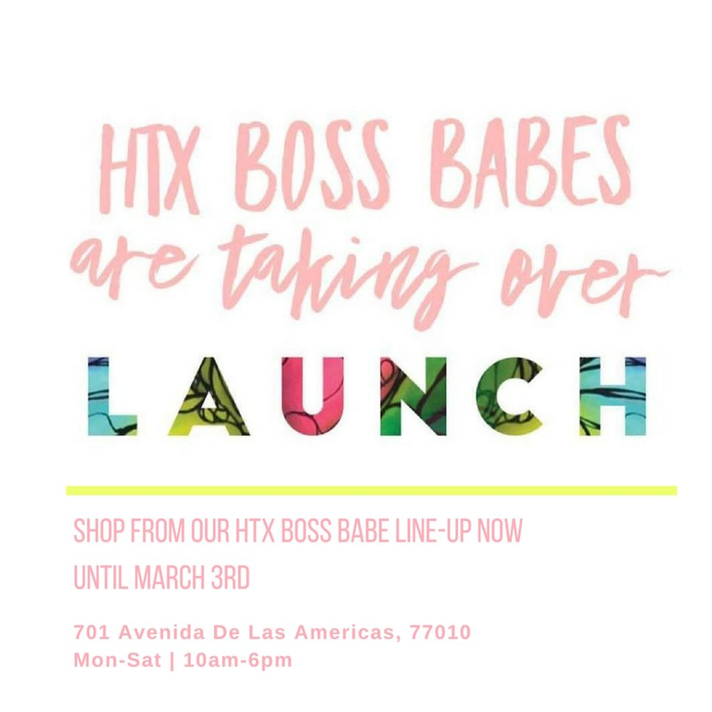 Shop from our Htx Boss Babe line up until March 3rd